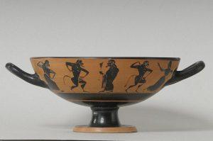 Dionysos und sein Gefolge, Trinkschale, 6. Jh. v. Chr.; Bildnachweis: KSM/Sammlung Köhler-Osbahr