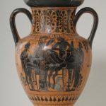 Herakles, Athena, Hermes und Apollon beim Gelage, Halsamphore, um 530 v. Chr. Bildnachweis: KSM/Sammlung Köhler-Osbahr